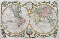 WORLD A NEW AND ACCURATE MAP OF THE WORLD COMPREHENDING ALL THE NEW DISCOVERIES