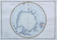 SOUTH POLE CARTE DES GLACES CIRCOMPOLAIRES AUSTRALES