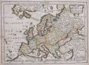 RARE PICART MAP OF EUROPE