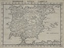 RUSCELLI'S EARLY  COPPER PLATE MAP OF SPAIN & PORTUGAL