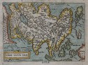 ASIA  SMALL  MAP BY ORTELIUS  MARCHETTI