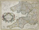 MERCATOR'S MAP OF THE WEST COUNTRY  ENGLAND & WALES