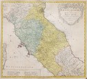 HOMANN'S MAP OF CENTRAL ITALY & TUSCANY