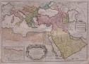 SANSON  JAILLOT LARGE ORIGINAL COLOUR MAP OF TURKISH EMPIRE
