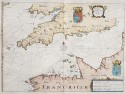 RARE MAP OF THE ENGLISH CHANNEL  1641
