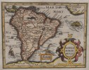 SOUTH AMERICA FROM MERCATOR HONDIUS  ATLAS MINOR
