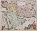DE WIT'S SUPERB MAP OF THE MIDDLE EAST ORIGINAL COLOUR