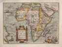 ORTELIUS SUPERB FOLIO MAP OF AFRICA