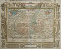 PARIS  MUNSTER EARLY DOUBLE PAGE WOODBLOCK DECORATIVE PLAN 1570c