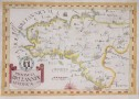 SCARCE MONTECALERIO MAP OF BRITTANY 1643