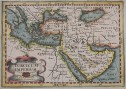 BERTIUS MAP OF THE MIDDLE EAST