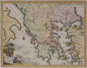 ALBRIZZI SCARCE MAP OF GREECE AND ISLANDS
