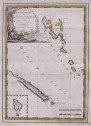 RARE CASSINI MAP OF NEW HEBRIDES AND NEW CALEDONIA  ACCORDING TO CAPTAIN COOK ..1798