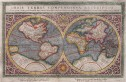 SUPERB MERCATOR S  WORLD MAP OF 1569   REDUCED BY PORRO  MAGINI 1597