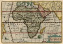 RARE LANGENES BARENTS MAP OF AFRICA  1598